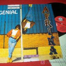 Discos de vinilo: AFRIKA GENIAL LP 1992 POP SYNTH CHICA. Lote 22316406
