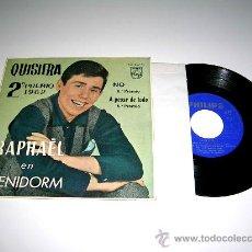 Discos de vinilo: RAPHAËL EN BENIDORM, 2º QUISIERA, 5º A PESAR DE TODO, 8º NO,...PHILIPS 433 868 PE, AÑO 1962.. Lote 17669555