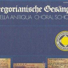 Discos de vinilo: ANTOLOGIA DEL CANTO GREGORIANO CAJA CON 4 LPS CON FOLLETO DE COMENTARIOS. Lote 26007894