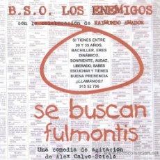 Discos de vinilo: LOS ENEMIGOS. SE BUSCAN FULMONTIS (VINILO LP 1999). Lote 30178011