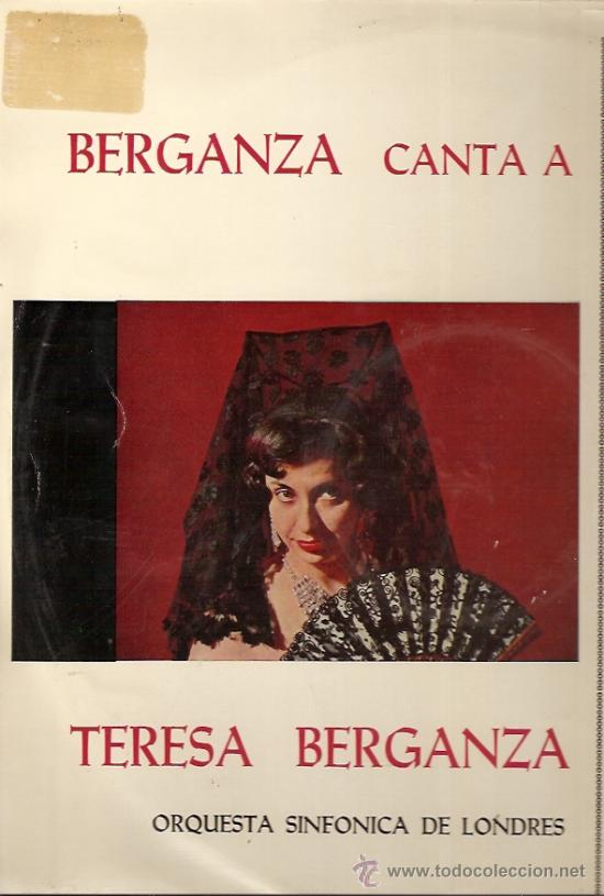 TERESA BERGANZA CANTA A ROSSINI LP SELLO DECCA AÑO 1959 (Música - Discos - LP Vinilo - Clásica, Ópera, Zarzuela y Marchas)