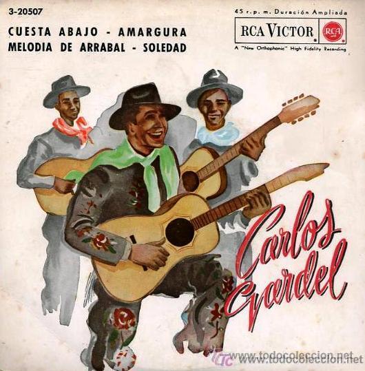 CARLOS GARDEL - CUESTA ABAJO - EP, 1962 (Música - Discos de Vinilo - EPs - Grupos y Solistas de latinoamérica)