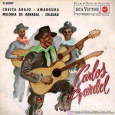 Discos de vinilo: CARLOS GARDEL - CUESTA ABAJO - EP, 1962. Lote 26521702
