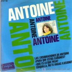 Discos de vinilo: SINGLE - ANTOINE - LAS LUCUBRACIONES DE ANTOINE.... Lote 20153177