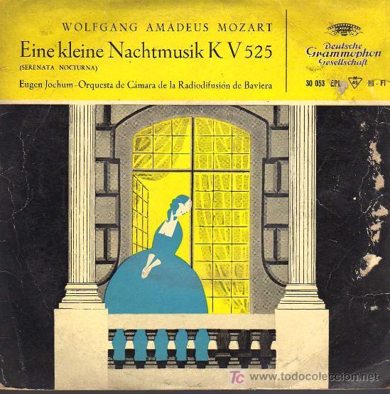 SINGLE - EINE KLEINE NACHTMUSIK K V 525 - SERENATA NOCTURNA - WOLFGANG AMADEUS MOZART (Música - Discos - Singles Vinilo - Clásica, Ópera, Zarzuela y Marchas)