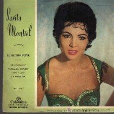 Discos de vinilo: SINGLE - SARITA MONTIEL - EL ÚLTIMO CUPLÉ. Lote 20255033
