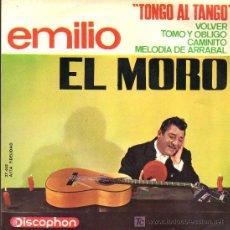 Discos de vinilo: SINGLE - EMILIO EL MORO - TONGO AL TANGO ...... Lote 19870903
