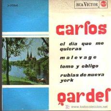 Discos de vinilo - SINGLE - CARLOS GARDEL - EL DIA QUE ME QUIERAS ...... - 20275816