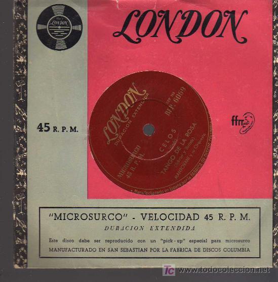 SINGLE - MANTOVANI Y SU ORQUESTA - TANGO DE LA ROSA ..... (Música - Discos - Singles Vinilo - Orquestas)