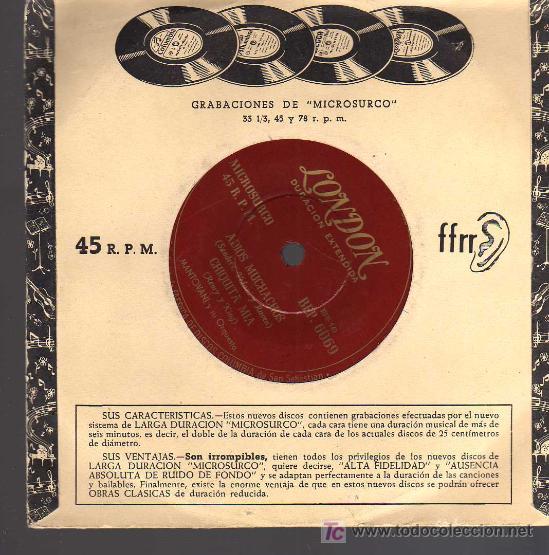 Discos de vinilo: SINGLE - MANTOVANI Y SU ORQUESTA - TANGO DE LA ROSA ..... - Foto 2 - 17836836