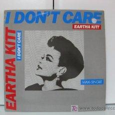 Discos de vinilo: EARTHA KITT - MAXI - I DON'T CARE - RCA, SCORPIO MUSIC 1986 (DISCO) BPY. Lote 27082839