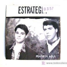 Discos de vinilo: ESTRATEGIA - PLANETA AZUL , SINGEL / SINGLE PROMOCIONAL SALAMANDRA EDICION ESPAÑOL 1993 CON ENCARTE. Lote 18006112