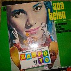 Discos de vinilo: ANA BELEN - CANCIONES DE LA PELICULA ZAMPO Y YO ,1965 , DIFICIL EP. Lote 26430321