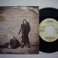 Discos de vinilo: SINGLE VINILO 'BACK ON THE STREETS' - SAXON. Lote 25148923