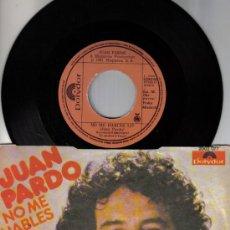 Discos de vinilo: JUAN PARDO (PEKENIKES, BRINCOS) - SINGLE - NO ME HABLES + LO SIENTO AMOR -EDITADO EN YUGOSLAVIA 1981. Lote 26313146