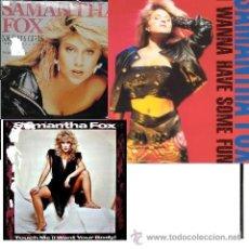 Discos de vinilo: COLECCION SAMANTHA FOX - LOTE 2 LP+3 MAXI VINILOS NUEVOS!!!. Lote 26693058