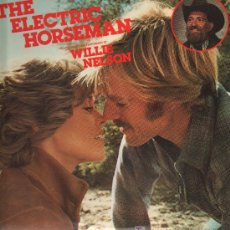 Discos de vinilo: BSO THE ELECTRIC HORSEMAN CON ROBERT REDFORD Y JEAN FONDA - FEATURING SONGS WILLIE NELSON - LP 1979. Lote 25244339