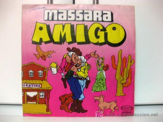 MASSARA - AMIGO - SINGLE 1980 MOVIEPLAY BPY (Música - Discos - Singles Vinilo - Canción Francesa e Italiana)
