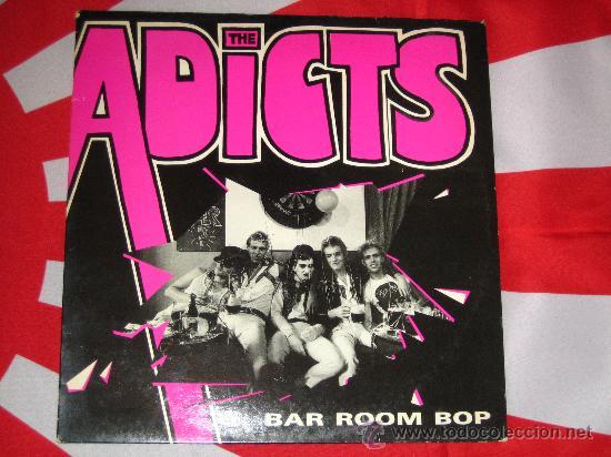 UK GB *** THE ADICTS *** BAR ROOM BOP +3 *** 1985 MAXI *** FALL OUT *** PUNK OI KBD *** ORIGINAL *** (Música - Discos de Vinilo - Maxi Singles - Punk - Hard Core)