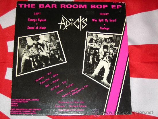 Discos de vinilo: UK GB *** THE ADICTS *** BAR ROOM BOP +3 *** 1985 MAXI *** FALL OUT *** PUNK OI KBD *** ORIGINAL *** - Foto 2 - 25486126