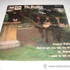 VINILO THE BEATLES - ELEANOR RIGBY, GOT TO GET YOU INTO MY LIFE, DR ROBERT- ODEON 1966