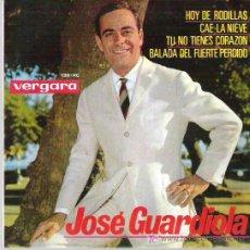 Discos de vinilo: JOSE GUARDIOLA - CAE LA NIEVE ** EP VERGARA 1964. Lote 19173548