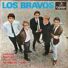 Discos de vinilo: LOS BRAVOS 4 ESTUPENDOS SINGLES, BLACK IS BLACK, SYMPHATY,COMO NADIE MAS, LOS CHICOS CON LAS CHICAS.. Lote 26830164
