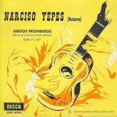 Dischi in vinile: NARCISO YEPES (GUITARRA) - JUEGOS PROHIBIDOS PARTE 1ª Y 2ª. Lote 25288201