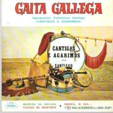 Discos de vinilo: GAITA GALLEGA - CANTIGAS Y AGARIMOS - FOLIADA DE MONFORTE ** EP REGA 1964. Lote 19137417