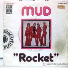 Discos de vinilo: MUD - ROCKET - SINGLE 1974 EMI ODEON BPY. Lote 17991429