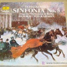 Discos de vinilo: DISCO LP DE VINILO. MÚSICA CLÁSICA. SINFONÍA Nº 5 TCHAIKOVSKY VON KARAJAN. DEUTSCHE GRAMMOPHON. . Lote 17987240