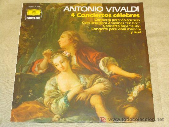 DISCO LP DE VINILO. MÚSICA CLÁSICA. 4 CONCIERTOS CÉLEBRES ANTONIO VIVALDI. DEUTSCHE GRAMMOPHON. (Música - Discos - LP Vinilo - Clásica, Ópera, Zarzuela y Marchas)