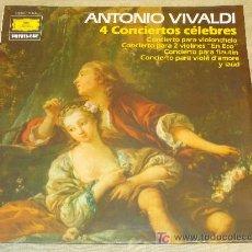 Discos de vinilo: DISCO LP DE VINILO. MÚSICA CLÁSICA. 4 CONCIERTOS CÉLEBRES ANTONIO VIVALDI. DEUTSCHE GRAMMOPHON. . Lote 17987343