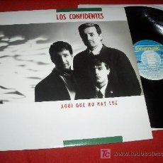 Discos de vinilo: LOS CONFIDENTES AQUI QUE NO HAY LUZ LP 1989 MOVIDA POP ROCK VINILO EXCELENTE ESTADO. Lote 20414515