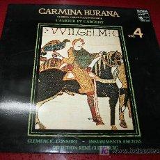 Discos de vinilo: LP - CARMINA BURANA VOL. 4. Lote 18003274