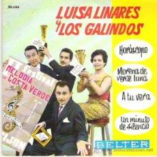 Discos de vinilo: LUISA LINARES Y LOS GALINDOS - HOROSCOPO ** II FESTIVAL COSTA VERDE **EP BELTER 1961. Lote 19218441