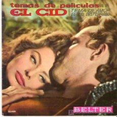 Discos de vinilo: TEMAS DE PELICULAS ** EL CID - EP BELTER 1961. Lote 19218442