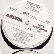 Discos de vinilo: MAXI VARIOS ARTISTAS - CRUSADERS & JOE COCKER, TOM TOM CLUB, ARETHA FRANKLIN. Lote 24641908