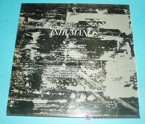 Discos de vinilo: LOS INHUMANOS. MAXI-SINGLE. EPIC. 1984 - Foto 2 - 19628328