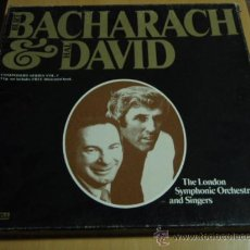Discos de vinilo: BURT BACHARRACH AND HAL DAVID 'CAJA 3LPS - OFERTA' CON LIBRILLO FOTOS INTERIOR CANADA. Lote 18061925