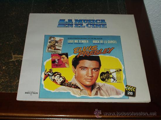 ELVIS PRESLEY LP BANDA SONORA ORIGINAL LOVE ME TENDER / ROCK DE LA CARCEL (Música - Discos - LP Vinilo - Rock & Roll)