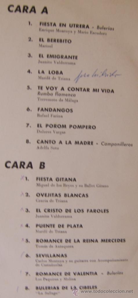 Discos de vinilo: MARISOL, FARINA, VALDERRAMA, MARIFE DE TRIANA, TOMÁS DE ANTEQUERA... 1963 - Foto 2 - 26973620