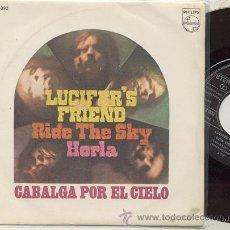 Discos de vinilo: SINGLE 45 RPM / LUCIFER'S FRIEND / RIDE THE SKY // EDITADO POR PHILIPS ESPAÑA 1971 NUEVO . Lote 18140186