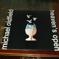 Discos de vinilo: MICHAEL OLDFIELD LP HEAVEN'S OPEN MUY RARO. Lote 26775094