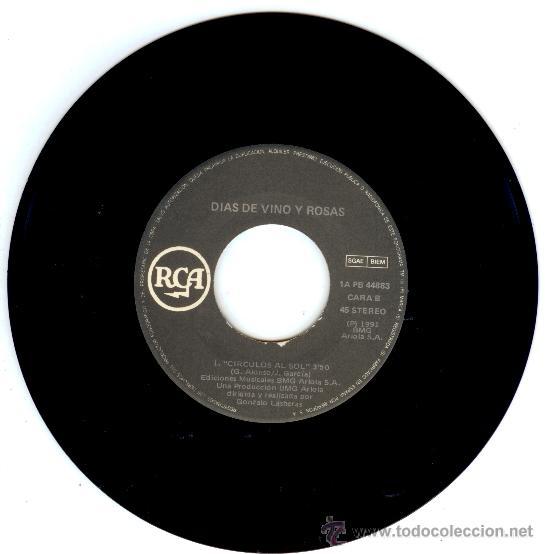 Discos de vinilo: DIAS DE VINO Y ROSAS - SINGLE VINILO - PRE AMARAL - ULTRARAREZA INENCONTRABLE!! - Foto 2 - 18240534