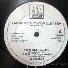 Discos de vinilo: EL DEBARGE - REAL LOVE - MAXI MOTOWN RECORDS 1989 ADVANCE PROMO RELEASE BPY. Lote 27438864