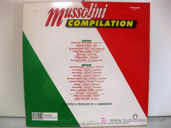 Discos de vinilo: Mussolini Compilation - Italian Collection - LP Out 1989 (Italo-Disco, Italodance) BPY - Foto 2 - 26862289