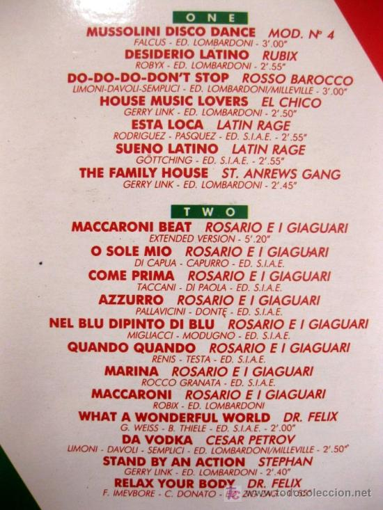 Discos de vinilo: Mussolini Compilation - Italian Collection - LP Out 1989 (Italo-Disco, Italodance) BPY - Foto 3 - 26862289