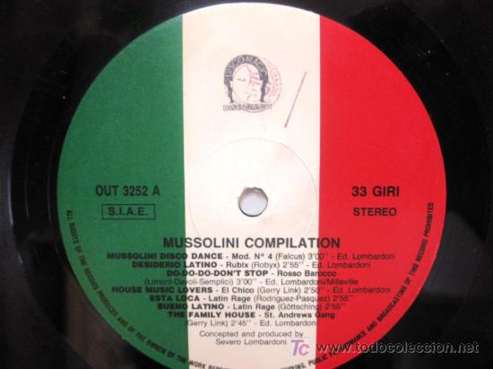 Discos de vinilo: Mussolini Compilation - Italian Collection - LP Out 1989 (Italo-Disco, Italodance) BPY - Foto 4 - 26862289