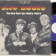 Discos de vinilo: BLUE MOONS / HA LEE LOO YA / SINGLE 45 RPM / EDITADO POR BELTER ESPAÑA 1971. Lote 18296457